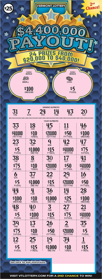 $4,400,000 Payout