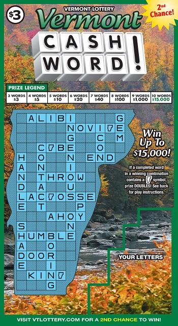 Vermont Cashword!