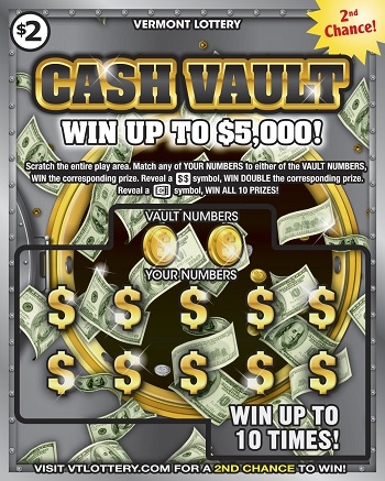 Cash Vault | Instant Lottery Tickets | Vermont Lottery
