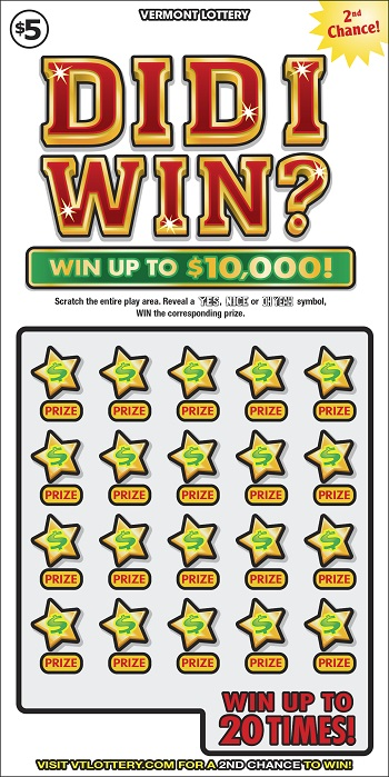 Did I Win? | Instant Lottery Tickets | Vermont Lottery