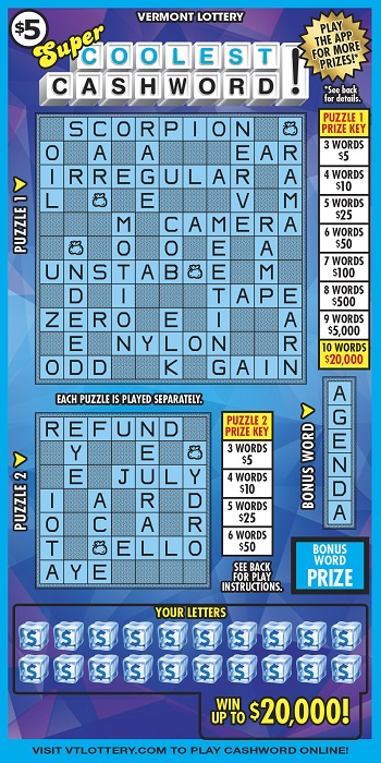 Super Coolest Cashword!