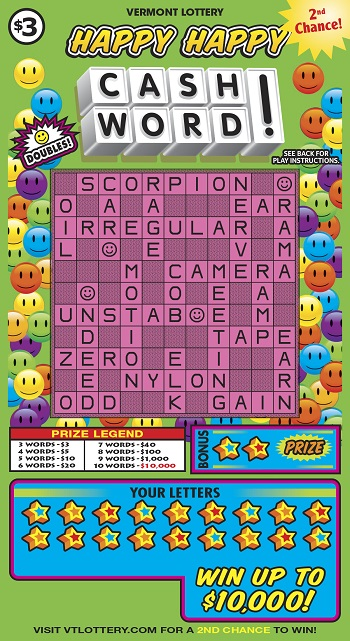 HAPPY HAPPY CASHWORD COVERED