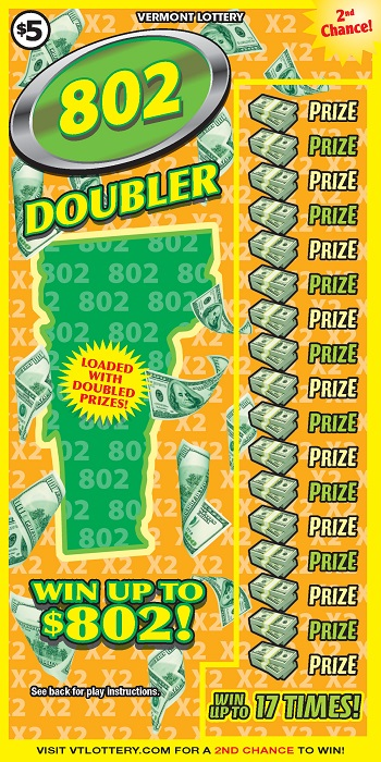 802 Doubler | Instant Lottery Tickets | Vermont Lottery