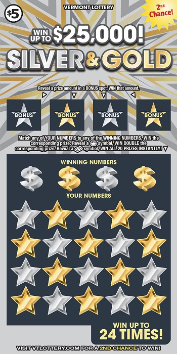 SILVER AND GOLD | Instant Lottery Tickets | Vermont Lottery
