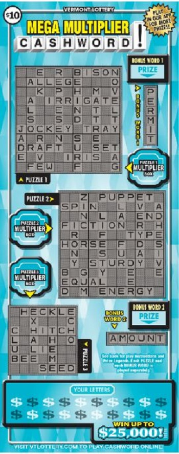 MEGA MULTIPLIER CASHWORD